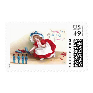 July 4th Girl and Toy Soldiers Postage