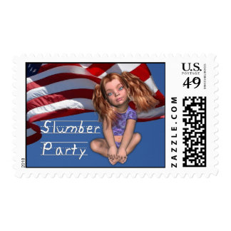 July 4th Girls Slumber Party Stamp