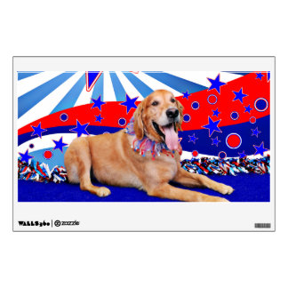 July 4th - Golden Retriever Wall Graphics
