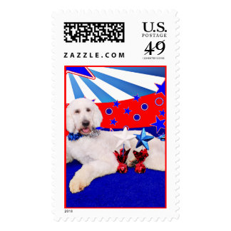 July 4th - GoldenDoodle - Max Stamps