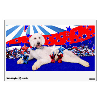 July 4th - GoldenDoodle - Max Room Decal