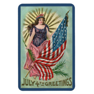 July 4th Greetings Magnet
