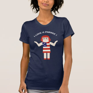 July 4th I Love a Parade Gal T-shirt