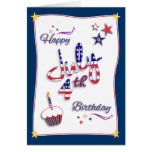 July 4th Independence Day Birthday Card