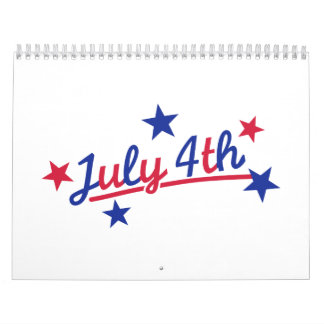 July 4th Independence Day Calendar