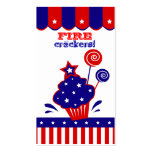 July 4th Independence Day Firecrackers Business Card Templates