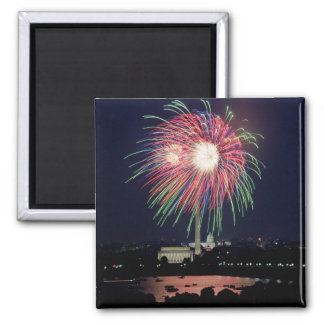 July 4th Independence Day fireworks 2 Inch Square Magnet