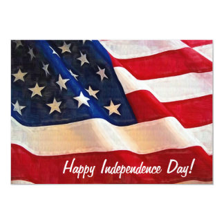 July 4th Independence Day in the USA 5x7 Paper Invitation Card