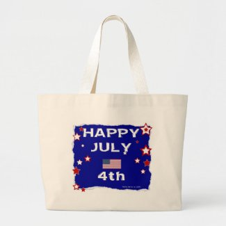 July 4th (Independence Day) Large Tote Bag
