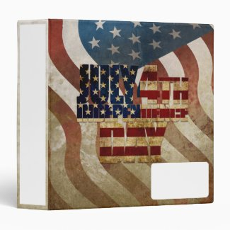 July 4th Independence Day V3.0 2020 3 Ring Binder