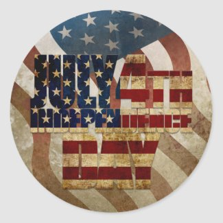 July 4th Independence Day V3.0 2020 Classic Round Sticker