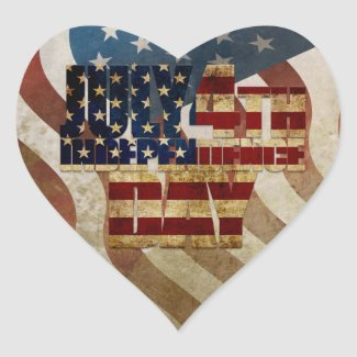 July 4th Independence Day V3.0 2020 Heart Sticker