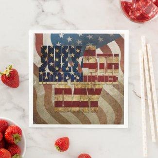 July 4th Independence Day V3.0 2020 Paper Dinner Napkins