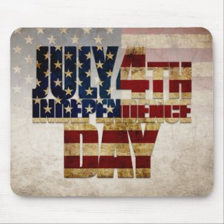 July 4th Independence Day V 1.0 Mouse Pad