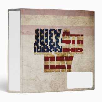July 4th Independence Day V 2.0 2020 3 Ring Binder