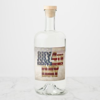 July 4th Independence Day V 2.0 2020 Liquor Bottle Label