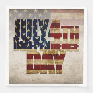 July 4th Independence Day V 2.0 2020 Paper Dinner Napkins