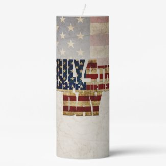 July 4th Independence Day V 2.0 2020 Pillar Candle
