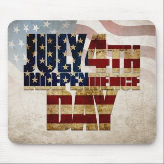 July 4th Independence Day V 2.0 Mouse Pad