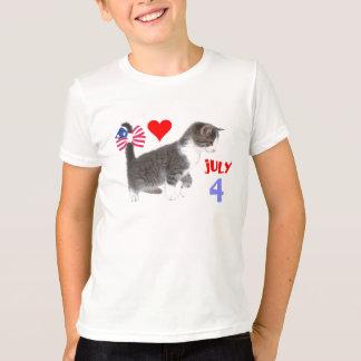 July 4th Kitten T-Shirt