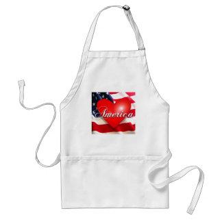 july 4th love! adult apron