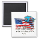 July 4th Magnets (White)