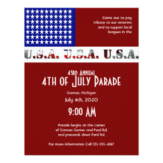 July 4th Modern USA Flag Graphic Flyer