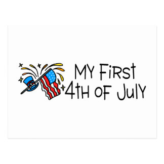 July 4th My First 4th Of July Postcard