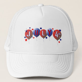 July 4th Party Balloons Mesh Hat