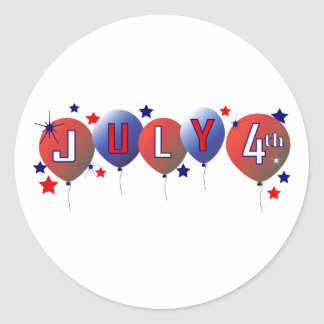 July 4th Party Balloons Sticker
