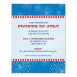 July 4th Party Explosion Party Personalized Invites