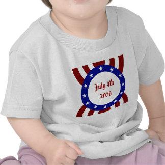 July 4th Patriotic Circle of Stars Shirts