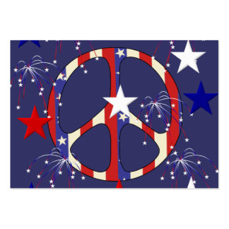 July 4th Peace Large Business Cards (Pack Of 100)