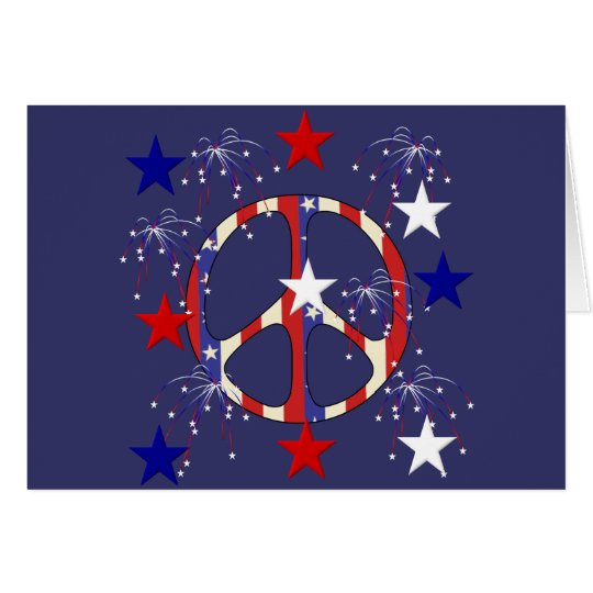 July 4th Peace Card