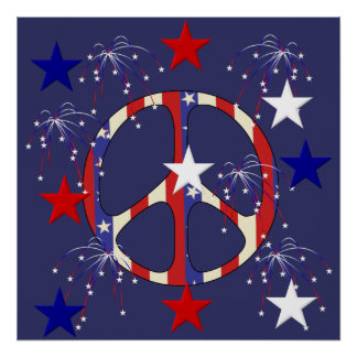 July 4th Peace Poster