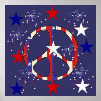July 4th Peace Print