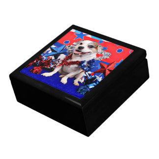 July 4th - Pitbull X - Opie Jewelry Box