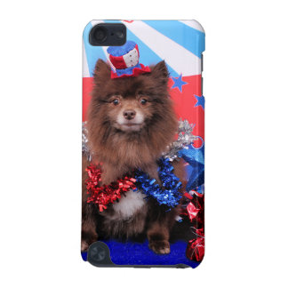 July 4th - Pomeranian - Fred iPod Touch (5th Generation) Cover