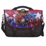 July 4th - Pomeranian - Fred Laptop Commuter Bag