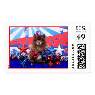July 4th - Pomeranian - Fred Stamps