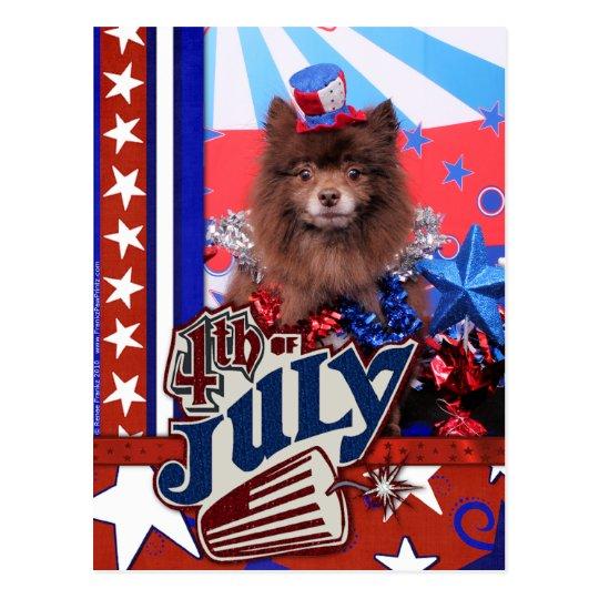 July 4th - Pomeranian - Fred Postcard