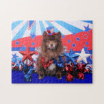 July 4th - Pomeranian - Fred Puzzles