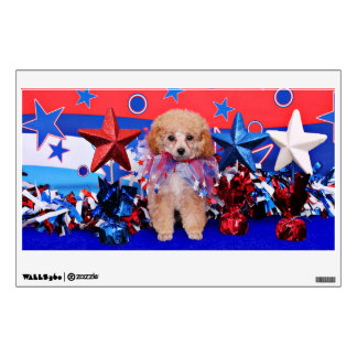 July 4th - Poodle - Lily Room Decal