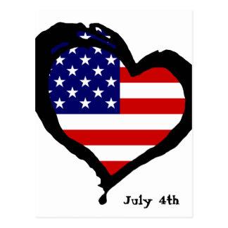 July 4th postcard