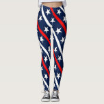 "July 4th red, white and blue pattern leggings<br><div class=""desc"">Happy July 4th background red,  white and blue with stars background</div>"