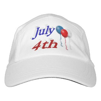 July 4th Red White Blue Balloons 3DPerformance Hat