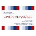 July 4th red white blue Independence celebration Personalized Invites