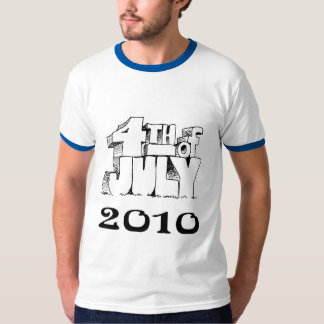 july 4th  ringer tee