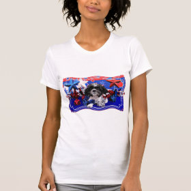 July 4th - Shih Tzu - Sadie T-shirts