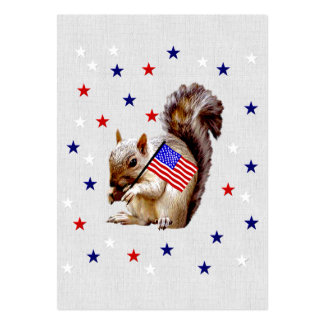 July 4th Squirrel Large Business Cards (Pack Of 100)